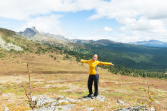 Woman and mountain Royalty Free Stock Images