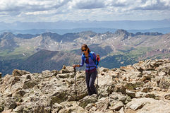 Woman Mountain Hiker Royalty Free Stock Photography