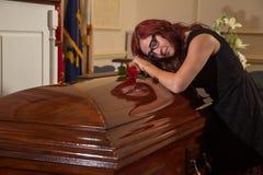 Woman mourning Stock Photos