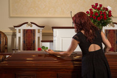Woman mourning Royalty Free Stock Image
