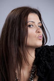 Woman mouth kissing Royalty Free Stock Images