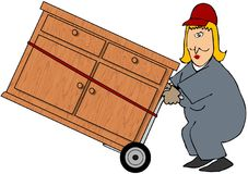 Woman Mover royalty free illustration