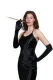 Woman Movie Star Smoking Stock Photo