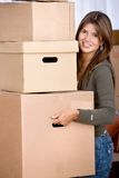 Woman moving in Royalty Free Stock Photos
