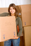 Woman moving in Stock Image