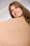 Woman moving in Royalty Free Stock Photography