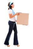 Woman moving house Royalty Free Stock Image
