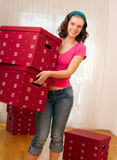Woman Moving Into New Home Royalty Free Stock Image