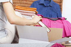 Woman is moving out Royalty Free Stock Photo