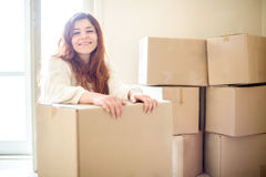 Woman Moving Royalty Free Stock Photos