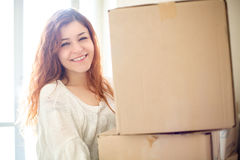 Woman Moving Stock Images
