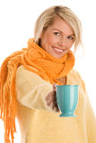 Woman with mug Royalty Free Stock Photos