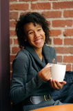 Woman with mug of coffee Royalty Free Stock Photo