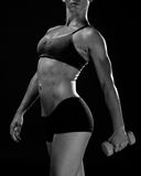 Woman muscular torso Stock Photos