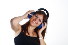 Woman and music Royalty Free Stock Images