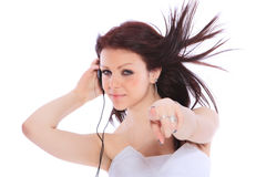Woman and music Royalty Free Stock Image