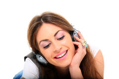 Woman and music Royalty Free Stock Photography