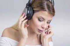 Woman music Stock Photos