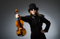 The woman in musical art concept Stock Images