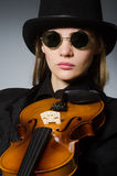 The woman in musical art concept Stock Photography