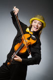 The woman in musical art concept Royalty Free Stock Photography