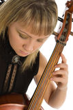 Woman Musician With Cello Royalty Free Stock Image