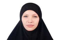 Woman with muslim burqa Royalty Free Stock Photo