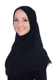 Woman with muslim burqa Stock Images