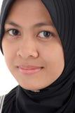 Woman in muslim dress. Smiling Stock Image