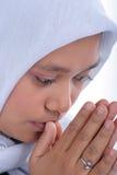 Woman in muslim dress Stock Images