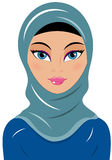 Woman Muslin Chador Stock Photo