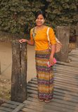 Woman from Myanmar . royalty free stock photos
