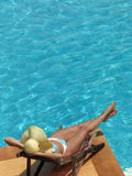 Woman n the pool Royalty Free Stock Photos