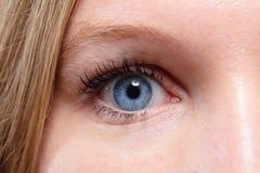 woman Nahaufnahme des blauen Auges? Lizenzfreie Stockfotos