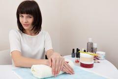 Woman at the nail salon Stock Photo