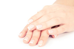 Woman nails. Care for sensuality woman nails Royalty Free Stock Image