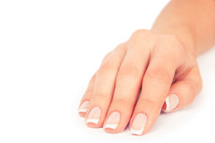 Woman nails. Care for sensuality woman nails Royalty Free Stock Photography
