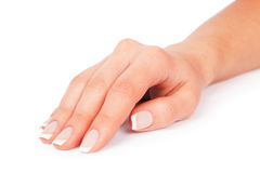 Woman nails. Care for sensuality woman nails Stock Images