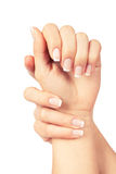 Woman nails. Care for sensuality woman nails Royalty Free Stock Photos
