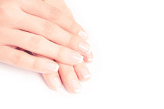 Woman nails Stock Images