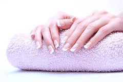 Woman nails. Care for sensuality woman nails stock photography