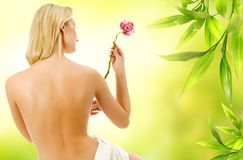 Woman with naked back Royalty Free Stock Photos