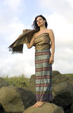 Woman in national Thai clothes Royalty Free Stock Photography