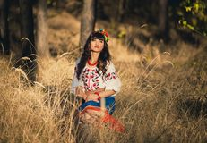 Woman in national ukrainian clothes Royalty Free Stock Photo