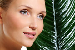 Woman natural healthy clear skin royalty free stock photography