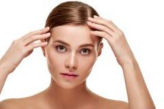 Woman with natural makeup Stock Images