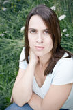 Woman in natural surroundings Royalty Free Stock Images