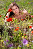 Woman and nature Royalty Free Stock Images