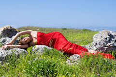Woman and nature Royalty Free Stock Photography