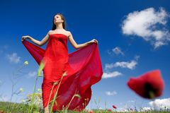Woman and nature Stock Photography
